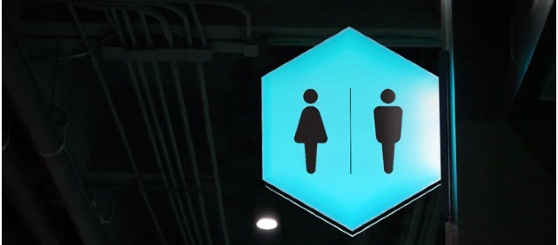 high-quality bathroom signs
